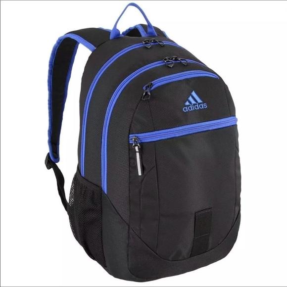 1288da465f Adidas Foundation Backpack Black   Blue